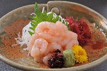 Ama ebi (pink shrimp) sashimi
