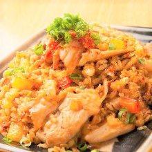 Pork and kimchi fried rice