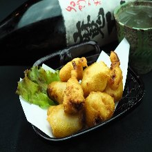 Salted and deep-fried beef offal