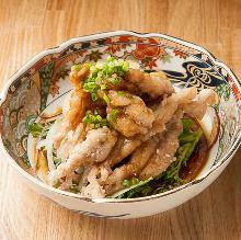 Seseri (chicken neck meat) with ponzu
