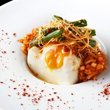 Chilled tofu and kimchi