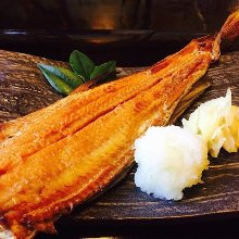 Seared half Atka mackerel