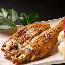 Charcoal grilled rosy seabass