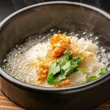 Fresh fish chazuke (fresh fish and rice with tea)