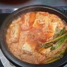 Tofu jjigae noodles