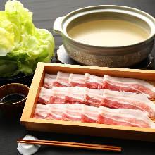 Pork and lettuce shabu-shabu