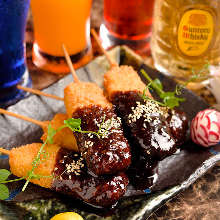 Cutlet skewers with miso