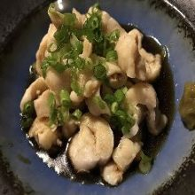 Chicken skin with ponzu