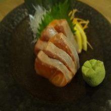 Fatty salmon sashimi
