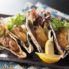 Oyster grilled in soy sauce