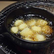 Garlic oil grill