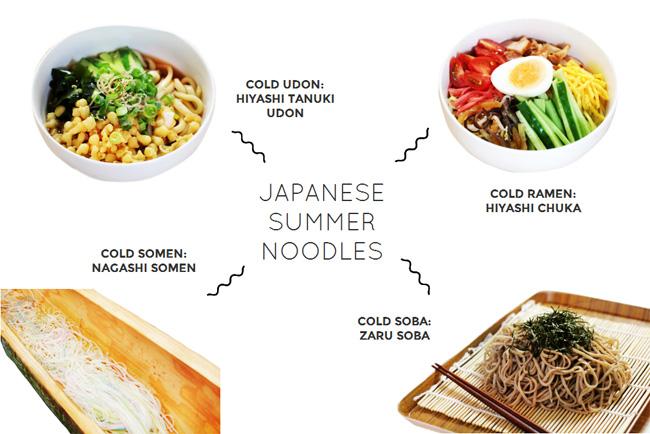 4 Popular Japanese Summer Noodle Dishes