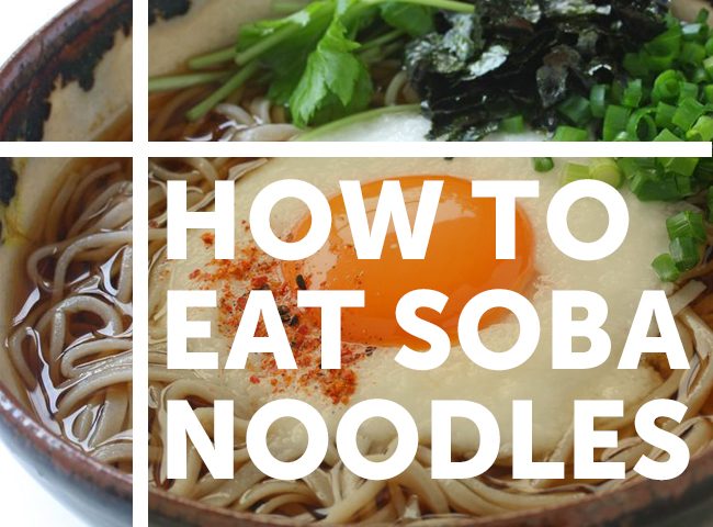 how to eat cold soba