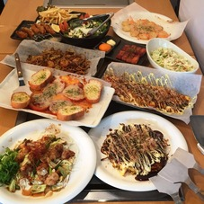 Incredible volume! The Authentic Okonomiyaki Meal Experience & All-you-can-drink Plan ♪