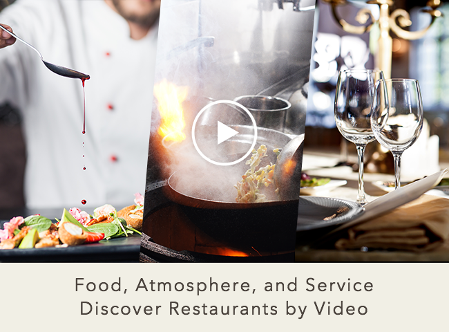 Restaurant introduction videos have been added.