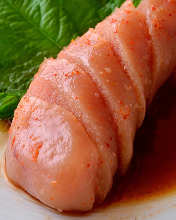 Marinated cod roe