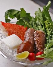 Octopus teppanyaki