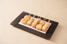 Assorted fried cutlet skewers, 5 kinds