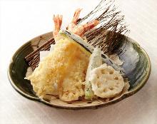 Large shrimp tempura