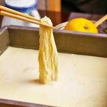 "Lifted soy milk skin (""hikiage-yuba"")"