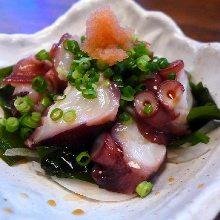 Octopus with ponzu