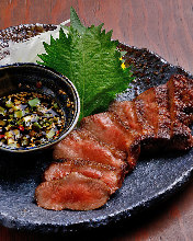 Grid-grilled beef tongue