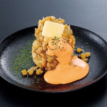 Mixed tempura of corn