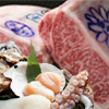 Kobe beef and seafood steak course