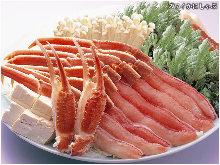 Snow crab shabu-shabu