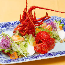 Steamed spiny lobster