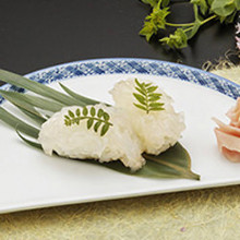 Live spiny lobster (sushi that has been made from a live lobster, or regular hand-rolled sushi)