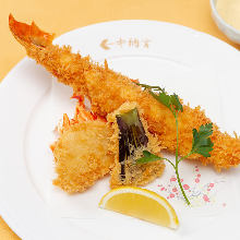 Deep-fried spiny lobster