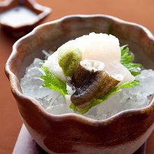 Pike conger sashimi