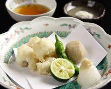 Pike conger tempura
