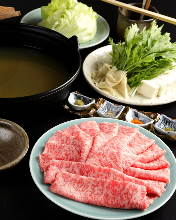 Beef sirloin shabu-shabu