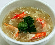 Shark fin soup with crab