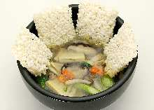Ankake vegetable scorched rice
