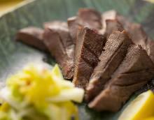 Thick-cut beef tongue