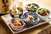 Assorted Obanzai (Kyoto-style home recipes)