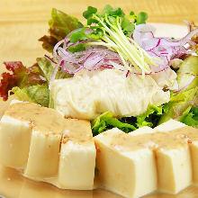 Fresh tofu skin salad
