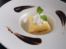 Cheese cream crepe