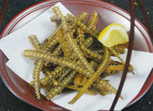 Fish bone crackers