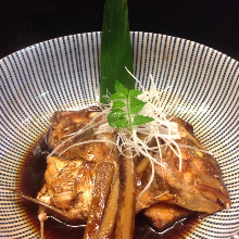 Simmered bony fish parts