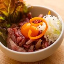 Wagyu beef steak tartare