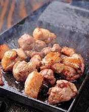 Seared locally-raised chicken