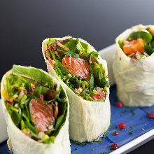 Yuba (tofu skin) fresh spring rolls