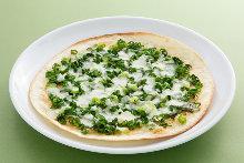 Green onion pizza