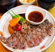 Sirloin steak lunch set