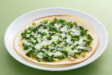 Green onion pizza