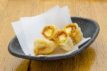 Cheese yuba (tofu skin) wraps